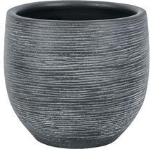 Pot de fleurs Le Havre, céramique, Ø 14 H 12 cm, gris-thumb-0
