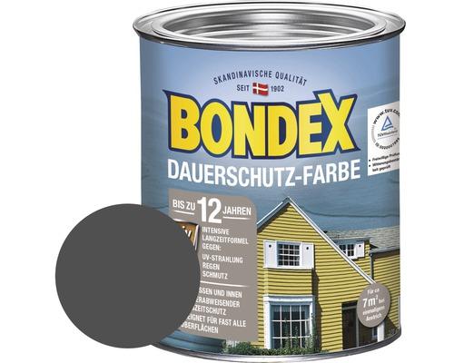 BONDEX Holzfarbe-Dauerschutzfarbe schiefer 750 ml