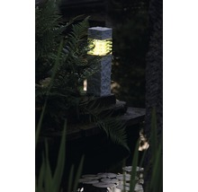 Lampadaire extérieur LED Aran GU5.3/3 W pierre effet blanc-thumb-1