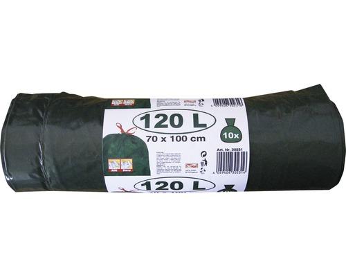 Sac poubelle avec lien vert 120 l, paquet de 10