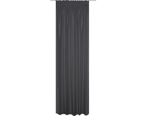 Rideau thermique avec galon fronceur gris 135x245 cm