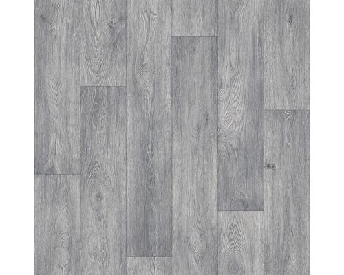 PVC News Aged Oak aspect bois gris-marron, largeur 300 cm (au mètre)