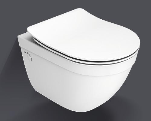Kit WC suspendu Jungborn Ella bride de rinçage réduite blanc