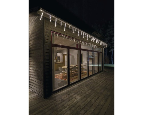 Stalactites rideau lumineux Konstsmide 32 pommes de pin 96 LED blanc chaud-0