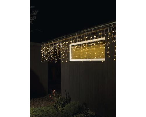 Pluie de glace rideau lumineux Konstsmide 200 LED couleur d''éclairage ambre câble transparent