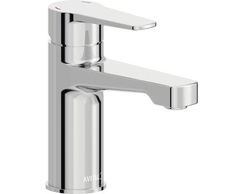 Mitigeur de lavabo AVITAL Tay chrome, bonde de vidage incluse