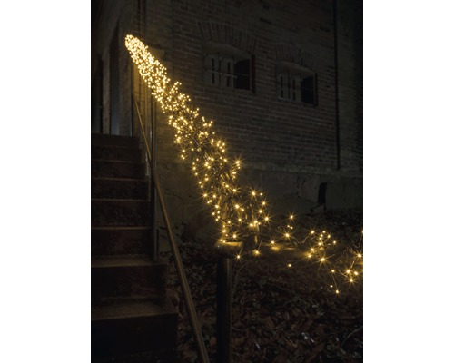 Guirlande lumineuse buissons micro LED Konstsmide extérieur et intérieur lot de 1152 LED ambre avec contrôleur, 8 fonctions différentes