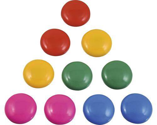 Kit d''aimants multicolores assorti, 10pièces