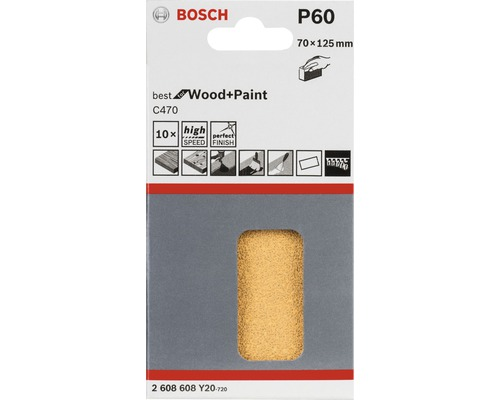 Feuille abrasive Bosch AUZ 70 G K60