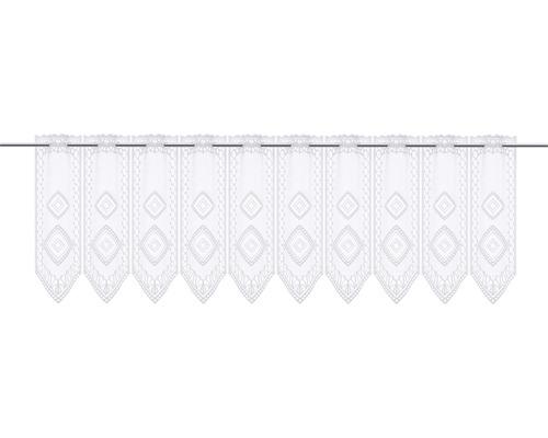 Scheibengardine Lamellen Raute weiß 45x145 cm