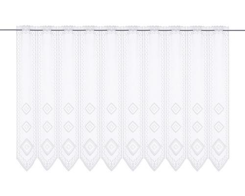Scheibengardine Lamellen Raute weiß 90x145 cm