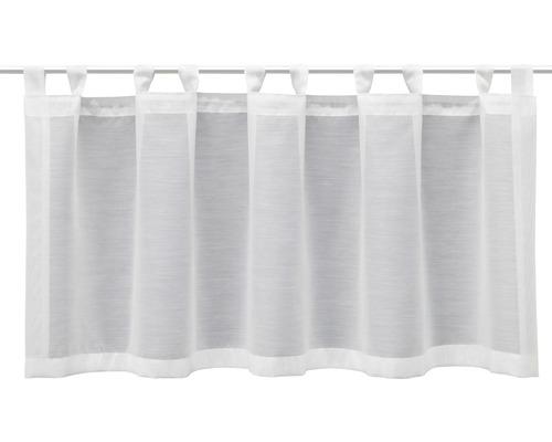 Scheibengardine Schlaufen Basic weiß 45x140 cm