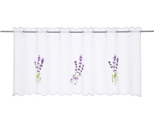 Scheibengardine Lavendel lila 45x115 cm