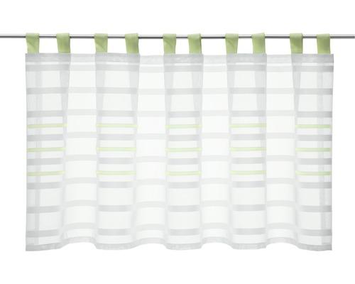 Scheibengardine Schlaufen Stripes grün 50x140 cm
