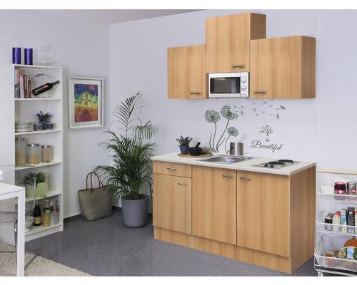 Kitchenette Nano 150 cm décor hêtre 00007952
