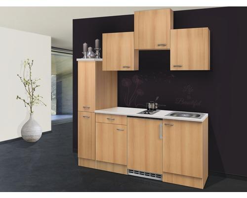 Kitchenette Nano 180 cm décor hêtre 00009879-0