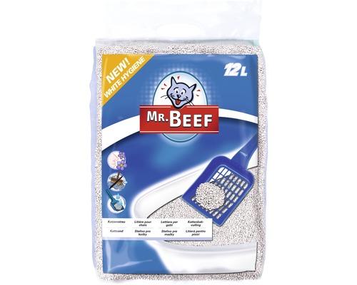 Litière pour chats Mr. Beef White Hygiène 12 Litres