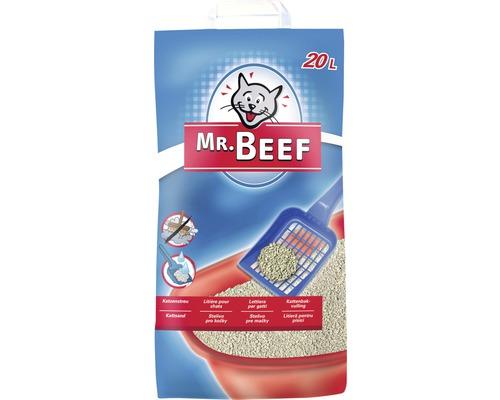 Litière pour chats Mr. Beef Bentonit, 20 litres