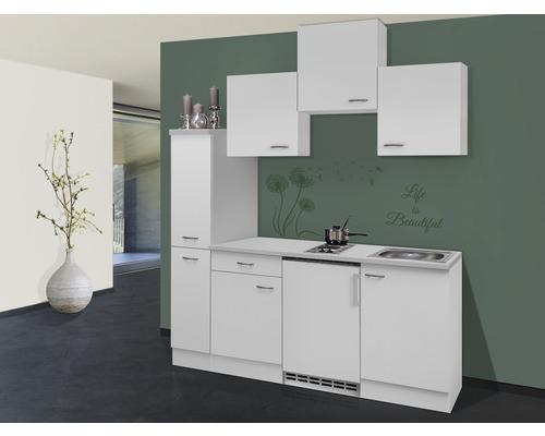 coin cuisine wito blanc 180 cm avec appareils encastr s hornbach luxembourg. Black Bedroom Furniture Sets. Home Design Ideas