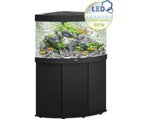 Kit complet d'aquarium JUWEL Trigon 190 SBX avec éclairage LED, filtre, chauffage et meuble bas noir-0