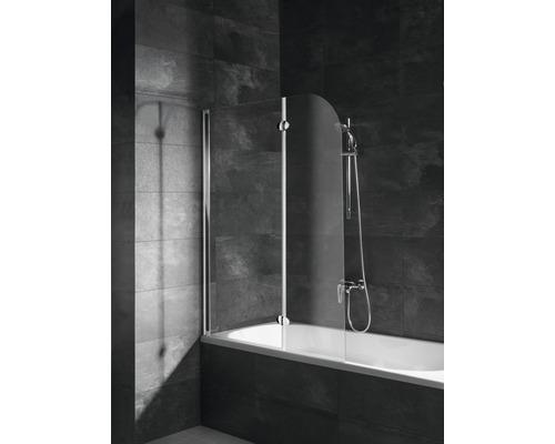 Pare-baignoire Schulte Express Plus 2 parties 112 cm transparent clair alu nature