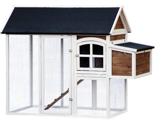 Poulailler et abri pour petits animaux avec nichoir 180x90x145cm