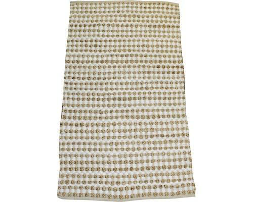 Tapis en chiffon Nature nœuds beige 60x110 cm