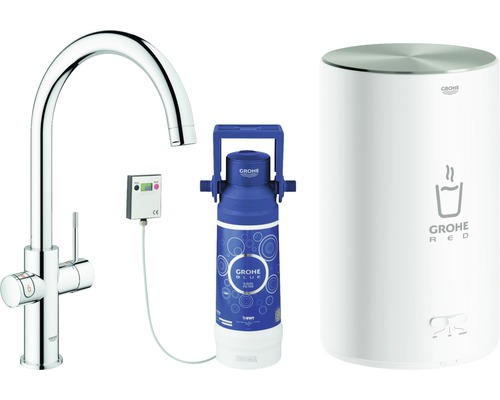 Robinet d''évier GROHE Red Duo 30083DC1 acier inoxydable