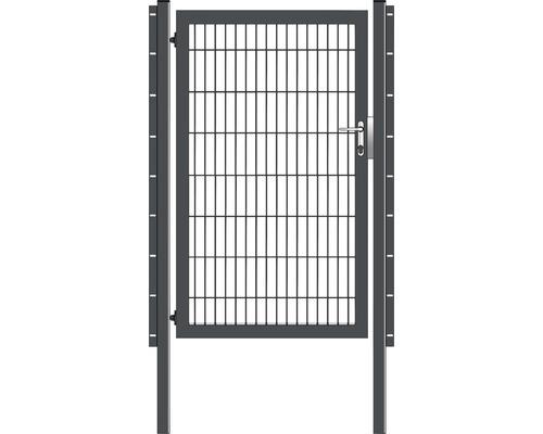 Portail simple 100 x 160 cm, avec poteaux à sceller, anthracite