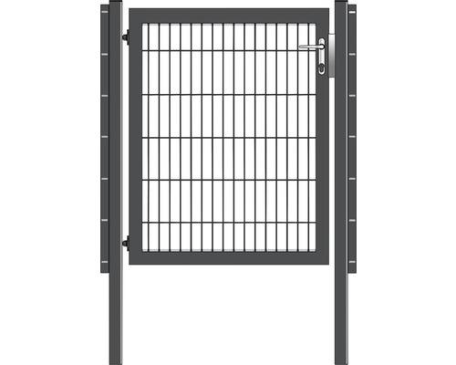 Portail simple 100 x 120 cm, avec poteaux à sceller, anthracite