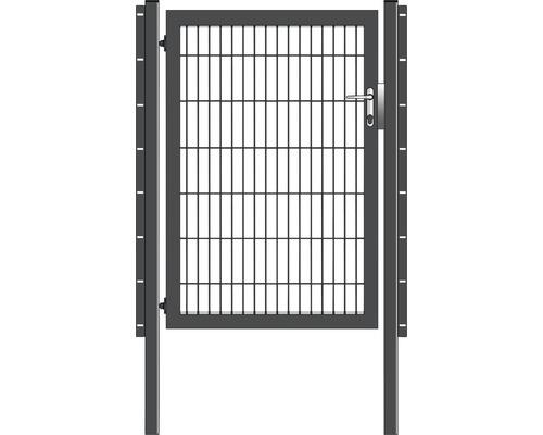 Portail simple 100 x 140 cm, avec poteaux à sceller, anthracite