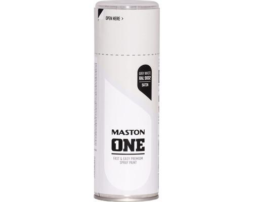 Peinture aérosol Maston ONE! mate satinée RAL 9002 blanc gris 400ml