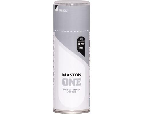 Peinture aérosol Maston ONE! mate satinée RAL 9007 aluminium gris 400ml