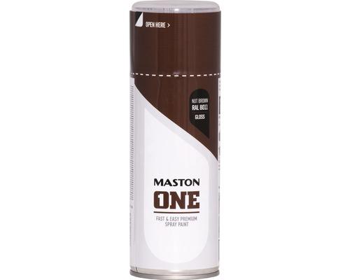 Peinture aérosol Maston ONE! brillante RAL 8011 brun noisette 400ml