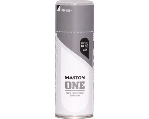 Peinture aérosol Maston ONE! mate satinée RAL 7037 gris 400ml