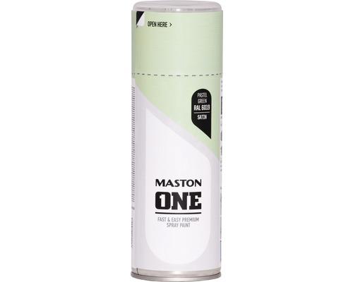 Peinture aérosol Maston ONE! mate satinée RAL 6019 vert clair 400ml