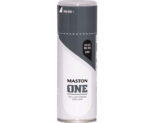 Peinture aérosol Maston ONE! brillante RAL 7011 gris fer 400ml