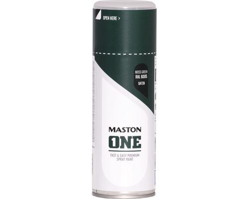 Peinture aérosol Maston ONE! mate satinée RAL 6005 vert mousse 400ml