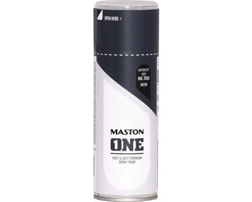Peinture aérosol Maston ONE! mate satinée RAL 7016 gris anthracite 400ml