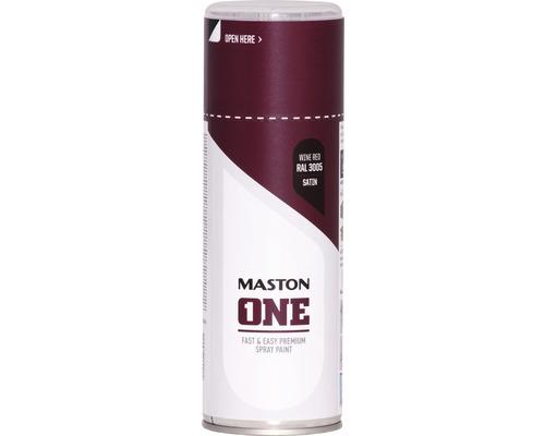 Peinture aérosol Maston ONE! mate satinée RAL 3005 bordeaux 400ml