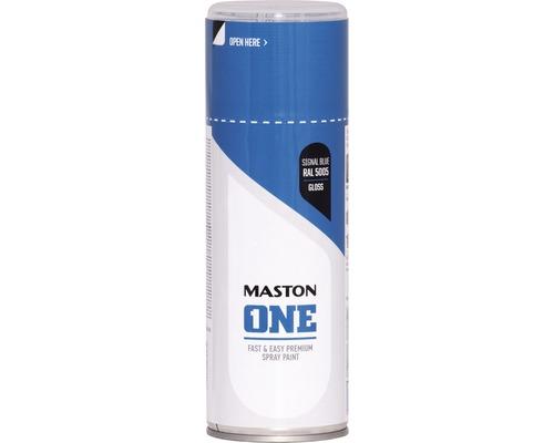 Peinture aérosol Maston ONE! brillante RAL 5005 bleu de sécurité 400ml