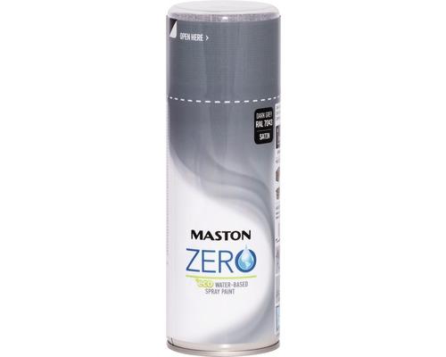 Peinture aérosol Maston ZERO brillante satinée RAL 7043 gris signalisation 400ml
