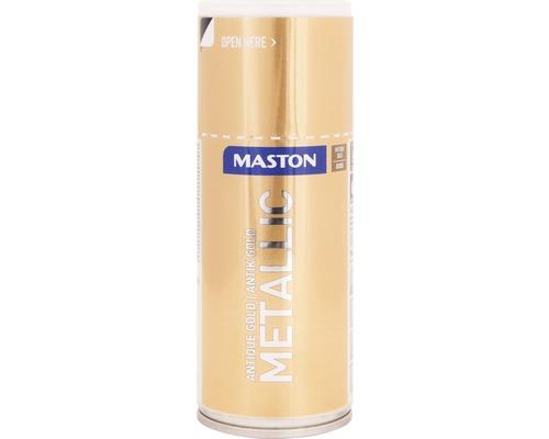 Laque à pulvériser Maston métallique ultra-brillante or 150 ml