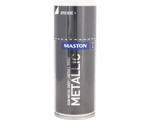 Laque à pulvériser Maston métallique ultra-brillante gris foncé 150 ml