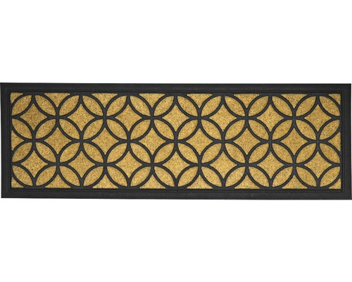 Tapis en caoutchouc/fibres de noix de coco Bali Circle 25x75 cm