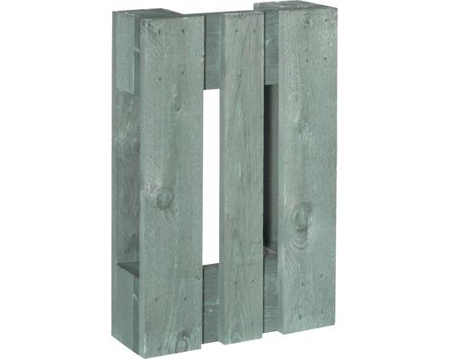 Quart de palette de projet 60x40x15cm vert menthe