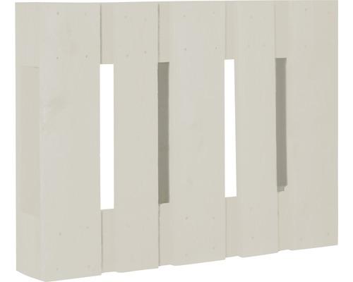 Demi palette de projet diagonale 60x80x15cm blanc