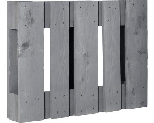 Demi palette de projet diagonale 60x80x15cm gris