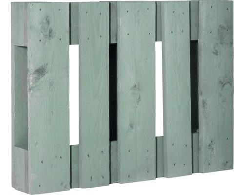 Demi palette de projet diagonale 60x80x15cm vert menthe