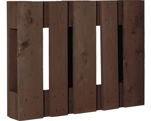 Demi palette de projet diagonale 60x80x15cm marron